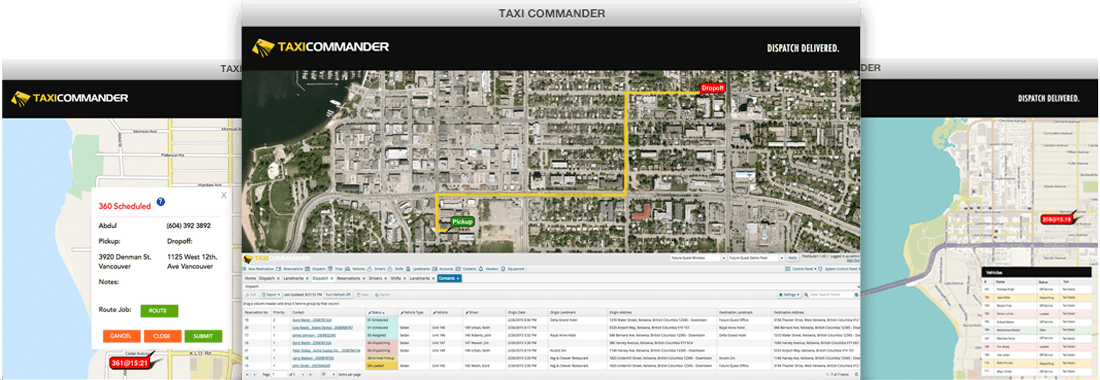 Taxi Commander Dispatch System Overview
