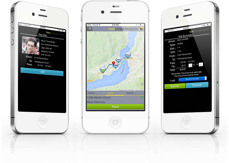 Taxi Commander Trip-Booking App for Passengers